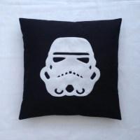 Stormtrooper Black White Star Wars Design Retro Pillow