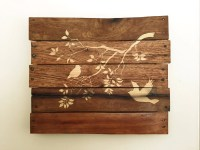 Items similar to Customizable Stained Wood Bird Tree ...