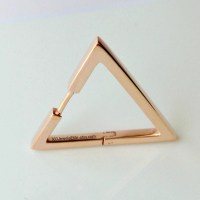 Triangle Hoop Earring For Men Large Hoops Rose Gold Plated