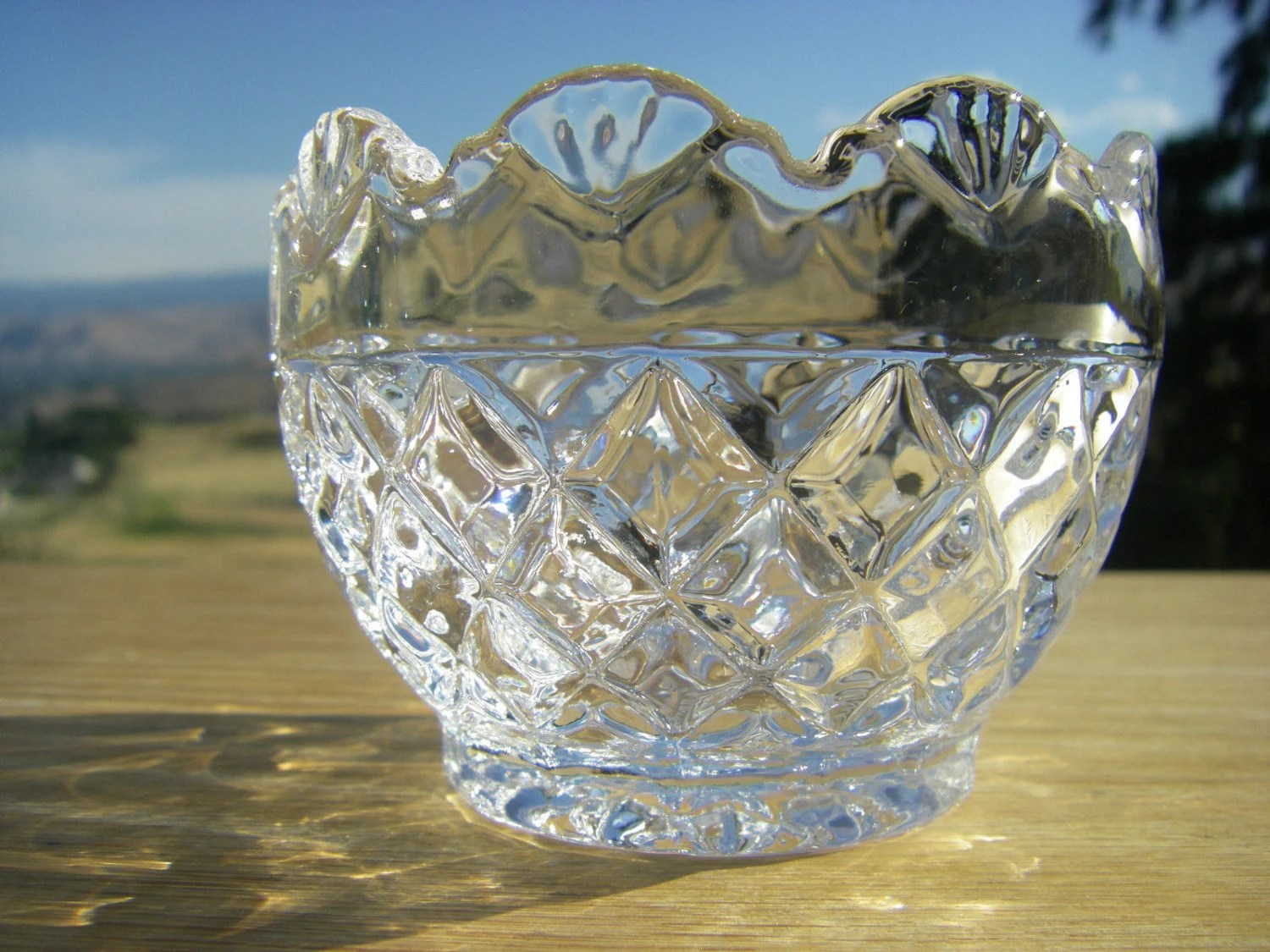 Shannon Crystal Hand Crafted Crystal Votive Candle Holder