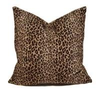 Leopard Print Throw Pillows. Leopard Pillow Cover 18x18 ...