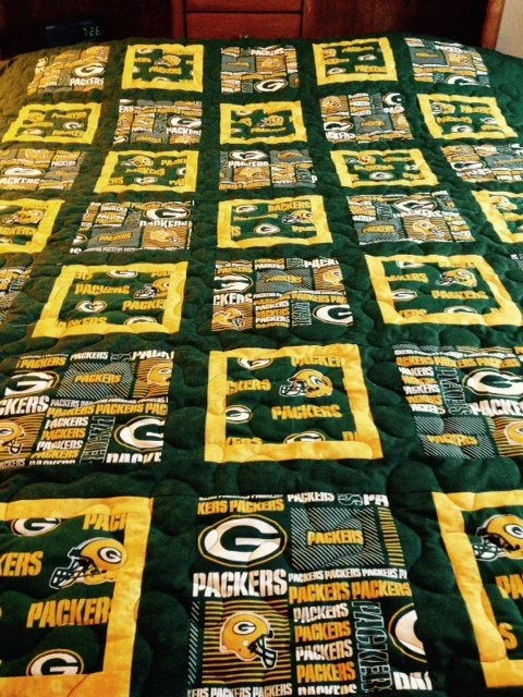 Sofa Fabric List Green Bay Packer Twin Size Quilt By Bobbinsisters On Etsy