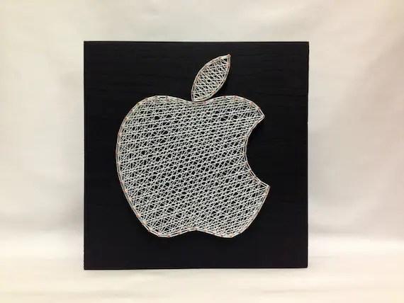 String Art Apple Icon Iphone Wall Art Wall Decor