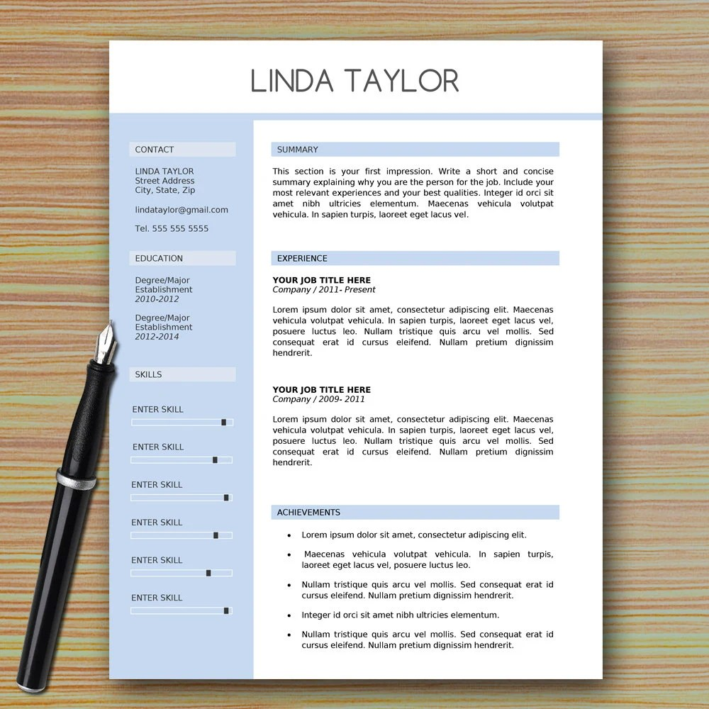 How To Create The Modern Resume Fastweb Professional Modern Resume Template For Microsoft Word