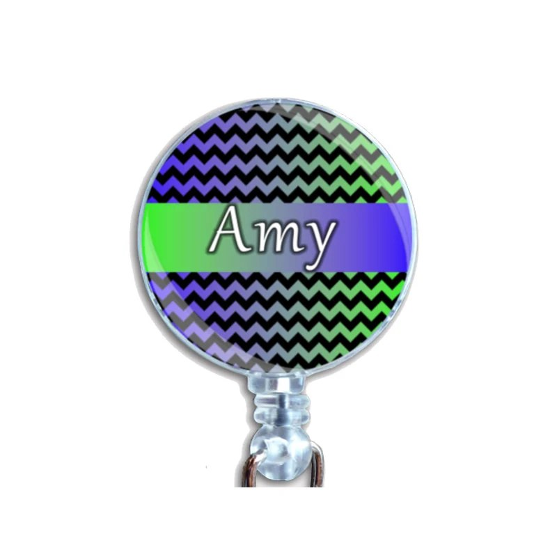 Personalized Badge Holder Retractable Id Name Card Badge Reel