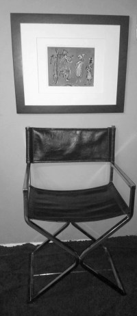 Mid Century Modern Black Leather and Chrome by ...