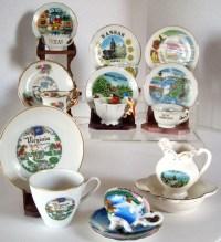 Vintage mini tea cups souvenir tea cups state tea cups