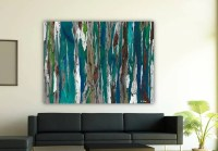 Oversized blue canvas print Extra LARGE Wall art dining room