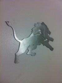 Detroit lions sign metal wall art