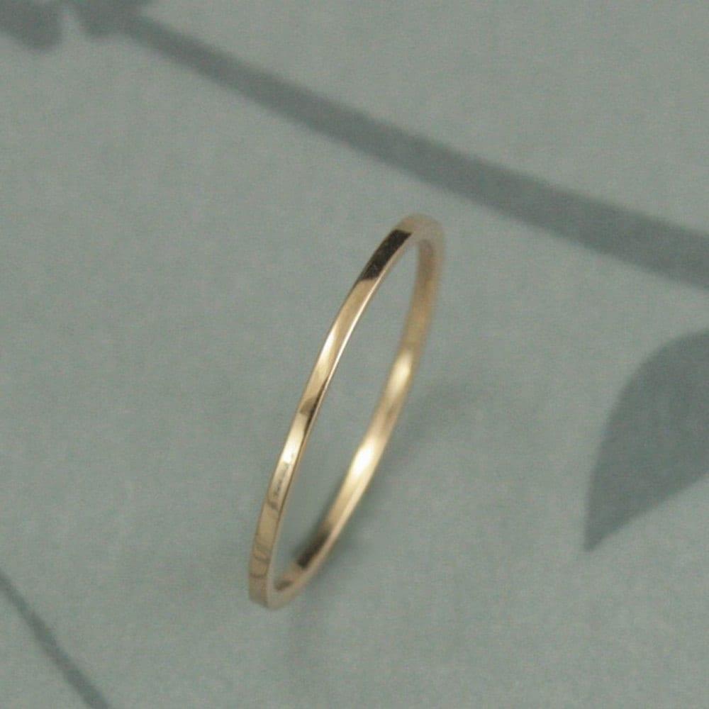 18k wedding band 18k gold wedding bands Thin Gold Wedding Band 18K Gold Ring Thin Wedding Ring Flat Gold Band 18K Gold Spacer Ring YOUR Choice of Gold Color 18K Rose Gold