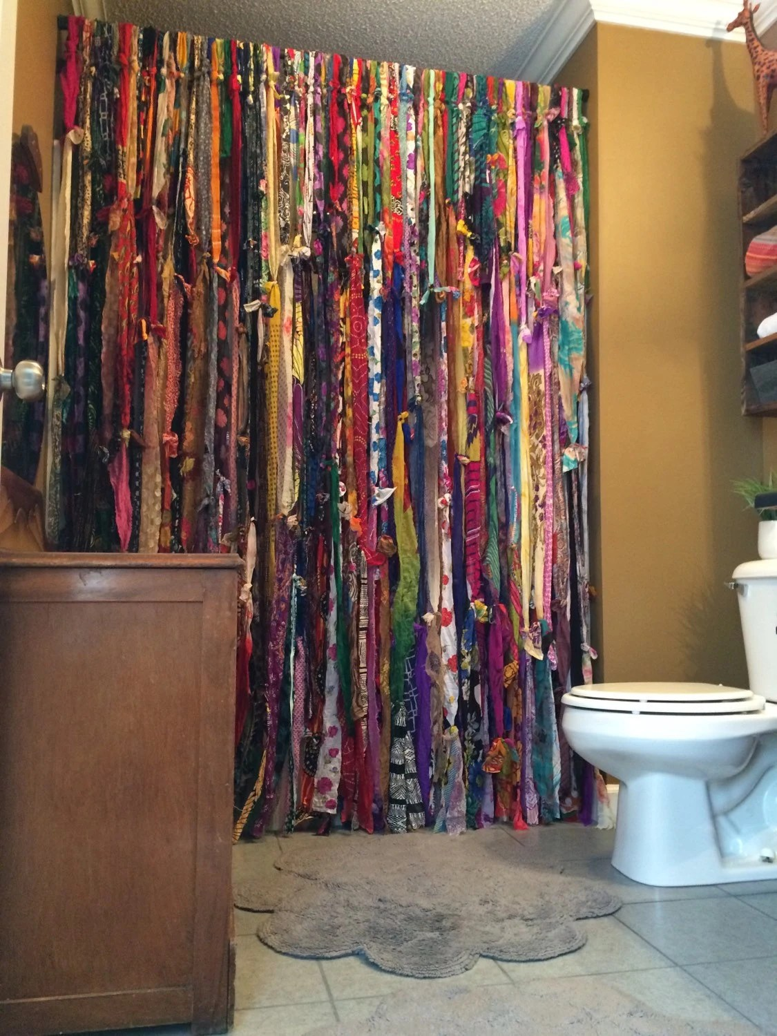 Closet Beads Curtains Handmade Bohemian Bathroom Shower Curtain