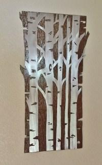 ASPEN TREE FOREST Metal wall art Hand by BearMountainMetalArt