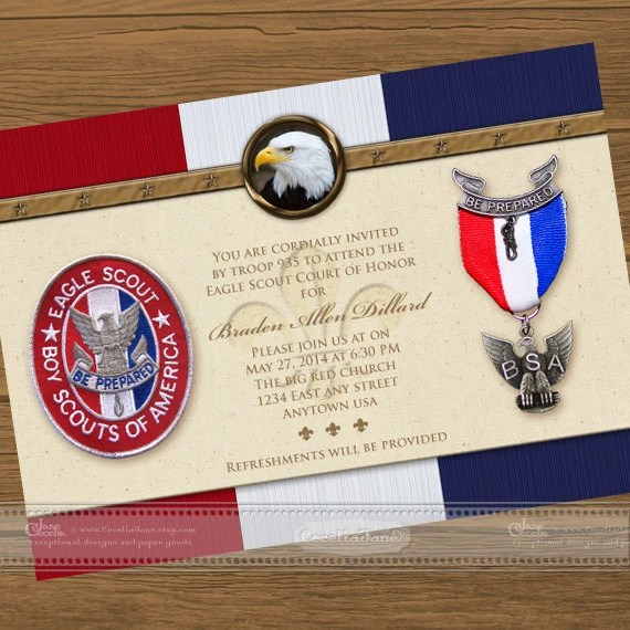 Eagle Scout Court Of Honor Invitations Eagle Scout Eagle