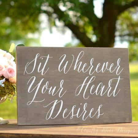 Open Seating Wedding Sign