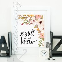 Be Still and Know Scripture Wall Art LDS
