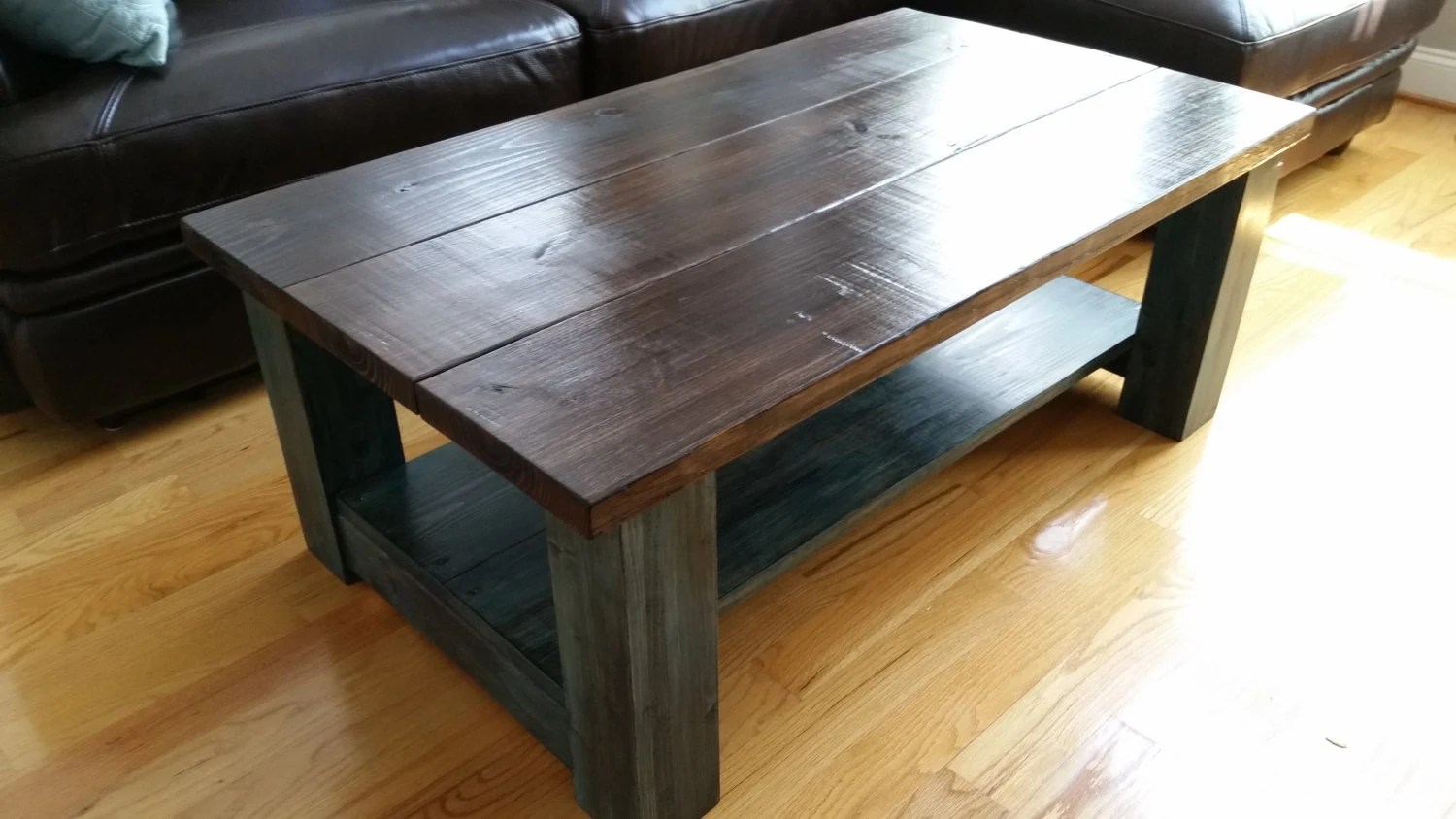 Farmhouse Coffee Table Etsy Handcrafted Farmhouse Coffee Table