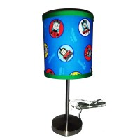 Thomas and Friends Print Lamp Shade with silver by debbieshine