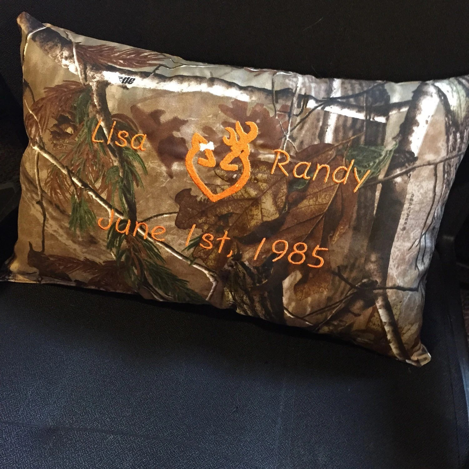 Kissenkiste Hunting Camo Couples Anniversary Pillow