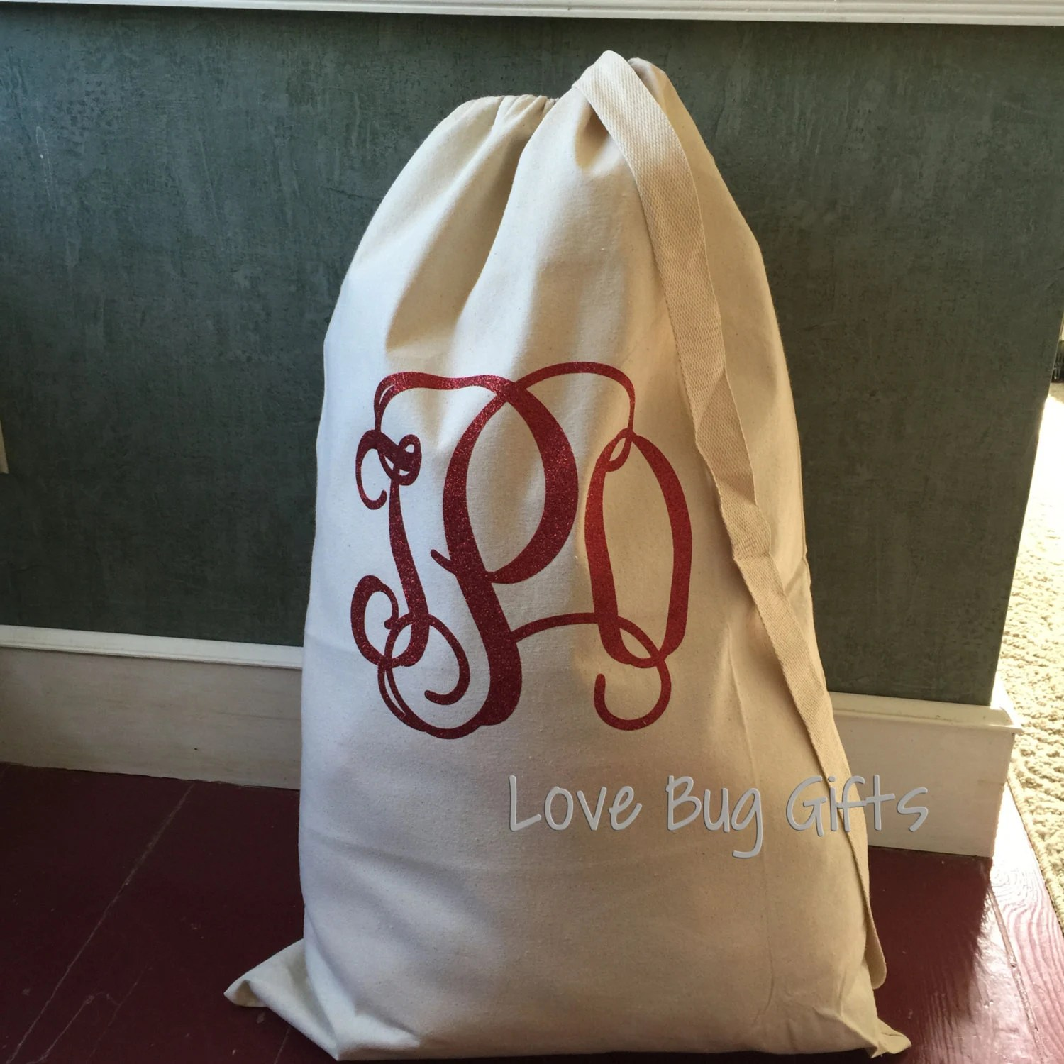 Where Can I Buy Laundry Bags Monogrammed Laundry Bag Xl With Carrying Strap