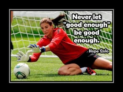 Soccer Motivation Poster Hope Solo Goalkeeper Photo by ArleyArt