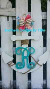 Beautiful wooden Anchor door hanger/ wall by ...