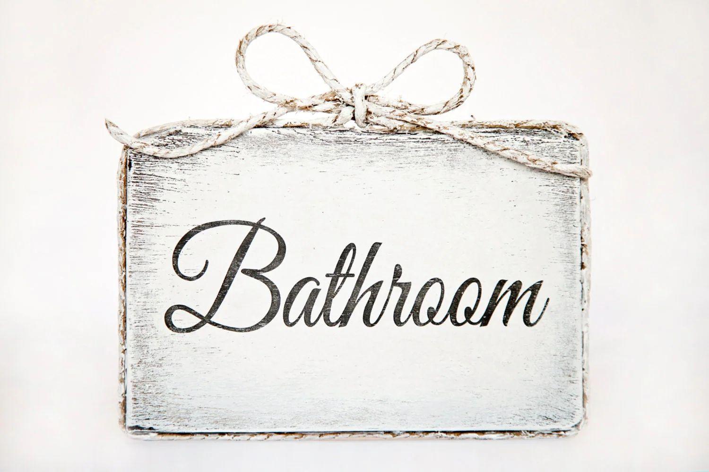 Cute handmade wooden bathroom door sign bathroom home decor door decor bathroom