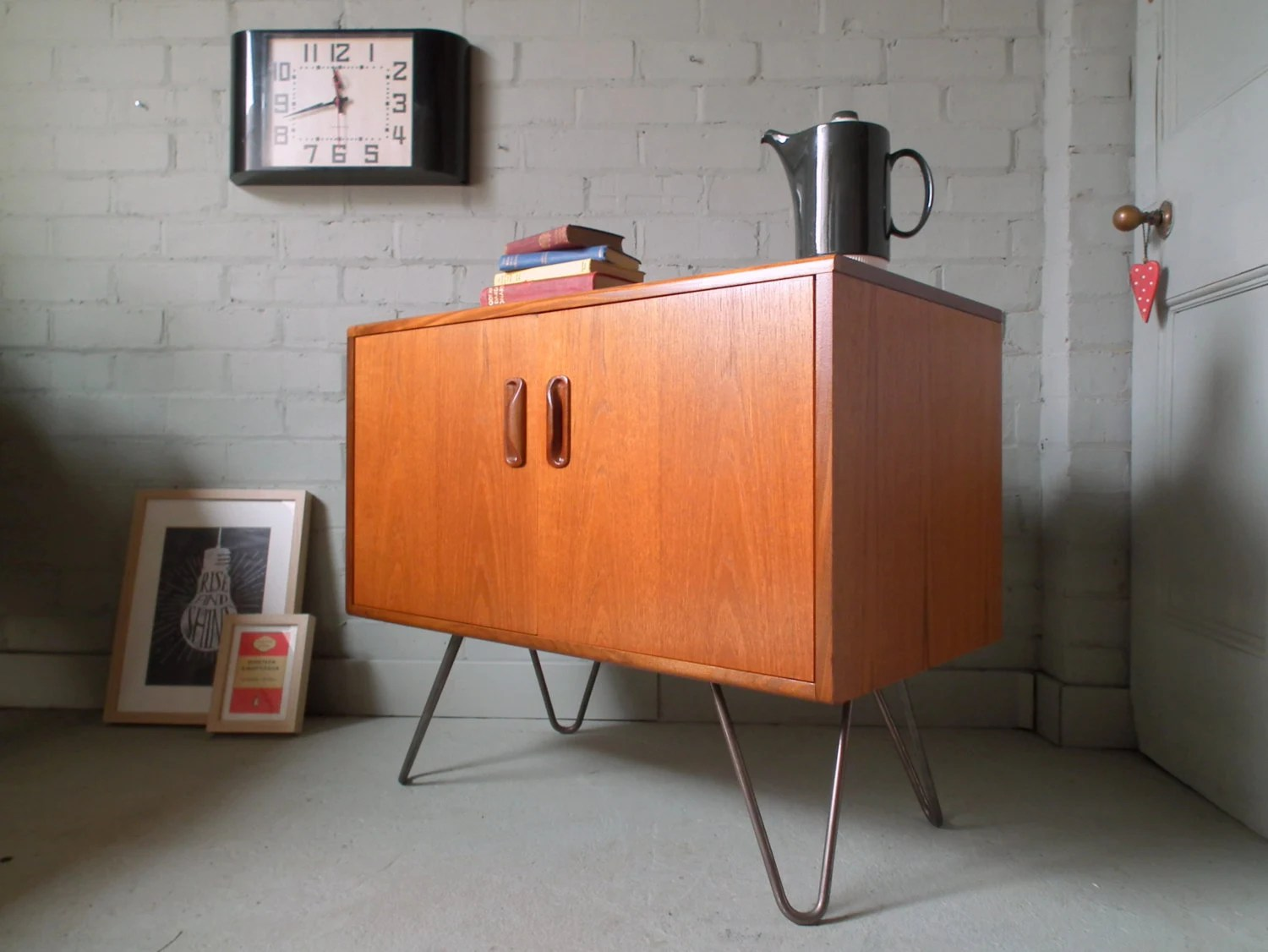 Vintage Sideboard Hairpin Legs Vintage Retro Teak G Plan Fresco 60s Cabinet Sideboard Tv Unit On