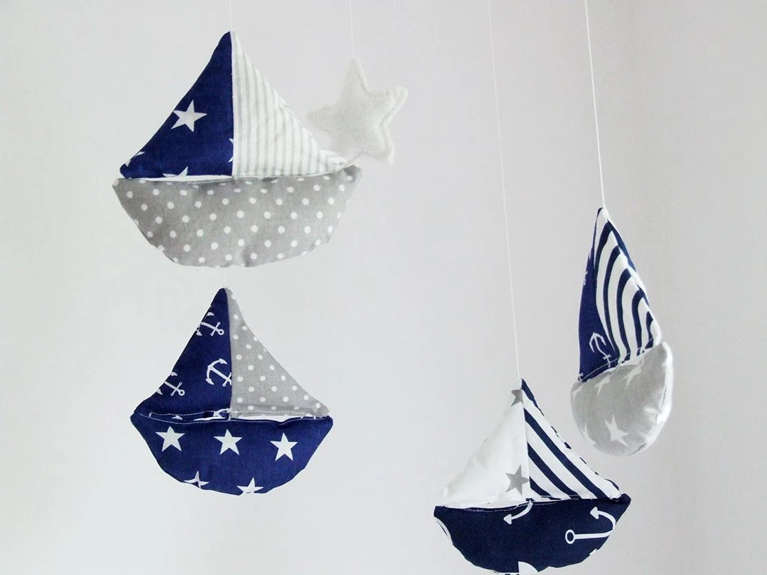 Servietten Krone Baby Boy Mobile Sailboat Mobile Baby Boy Mobile By Decopilot
