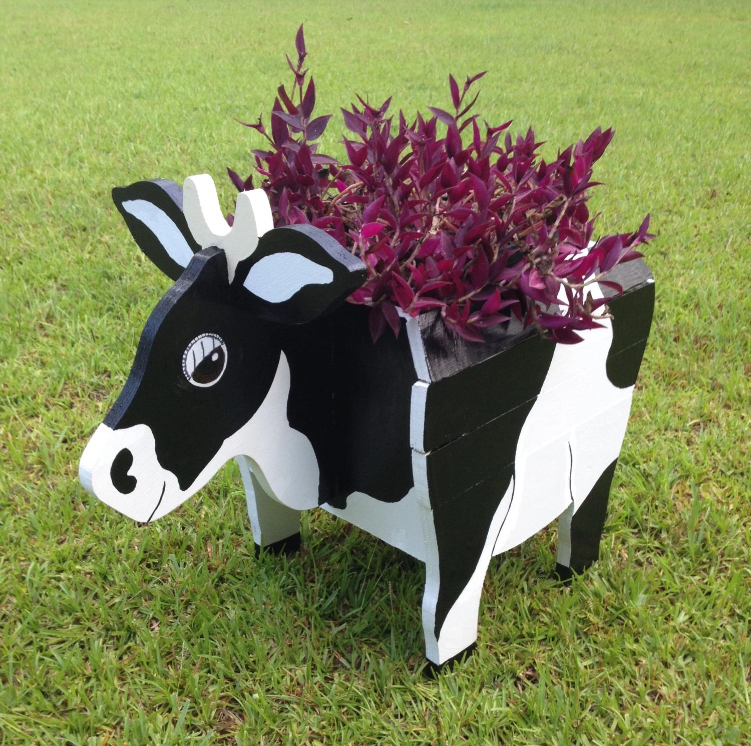 Metal Dog Planters Wooden Animal Planter Cow