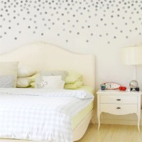 120 Silver or Gold Metallic 2 inch Dots Vinyl Wall Decals