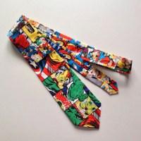 Superhero inspired Ties Men's Necktie avengers marvel