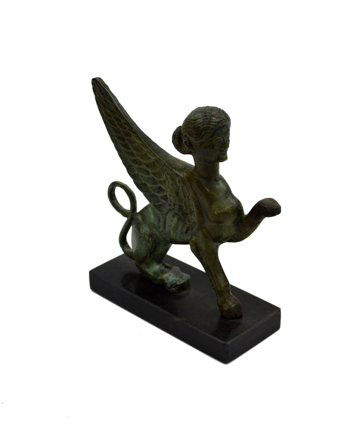 Ancient Greek Statues For Sale Sphinx Bronze Statue Ancient Greek Marble Based Aged Sculpture