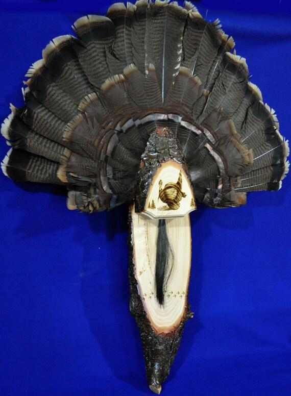 Turkey Fan Mount Turkey Hunting Turkey By Springbrookengraving