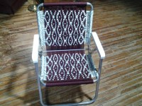 macrame lawn chair