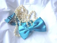 Full Size Malibu Blue Bow Tie...Adult or Older Boys