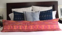Extra long tribal lumbar pillow 4 foot bolster pillow