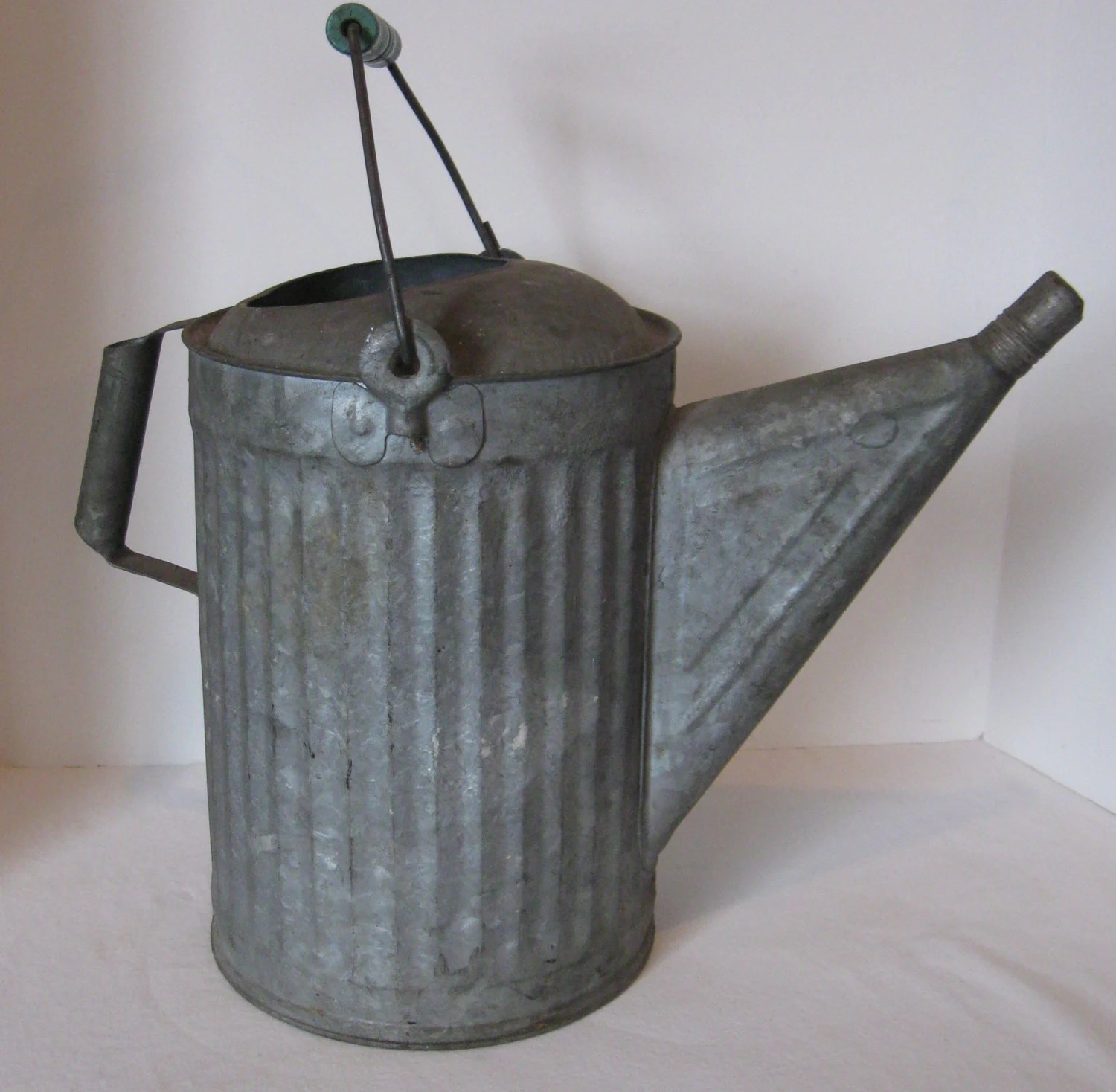 Galvanized Watering Cans Galvanized Watering Can Vintage With Bail Handle And Original