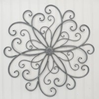 Wall Decor/Wrought Iron/ Metal/ Gray/ Wall by TheShabbyStore