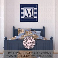 Nautical Themed Wall Art Initial Monogram Wall Decal Modern