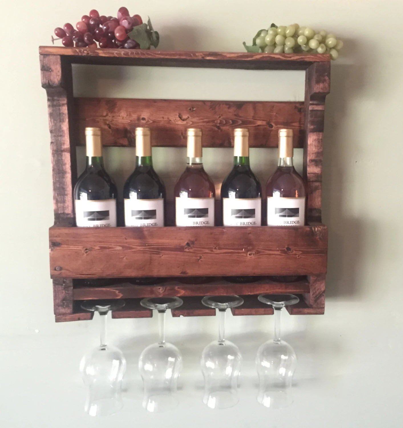 Wine Holders For Gifts Rustic Wooden Wine Rack Gifts For Him Rustic By