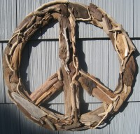 Driftwood Peace Sign 23 Beach Decor Wall Decor Driftwood