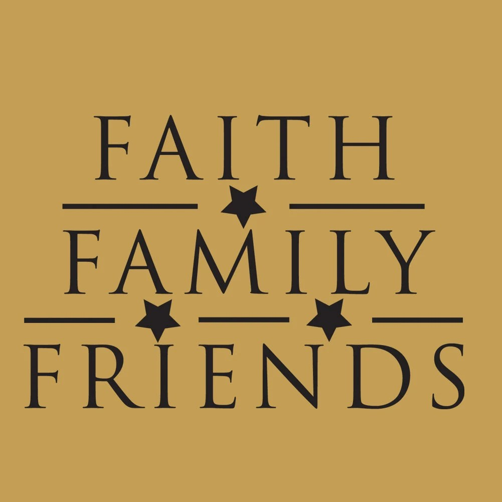 Faith Family Friends Wall Art - Elitflat
