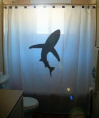 shark shower curtain kids bathroom decor bath curtains ...