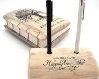 Wedding Guest Book and Pen Holder Set unique guest by KatDeco
