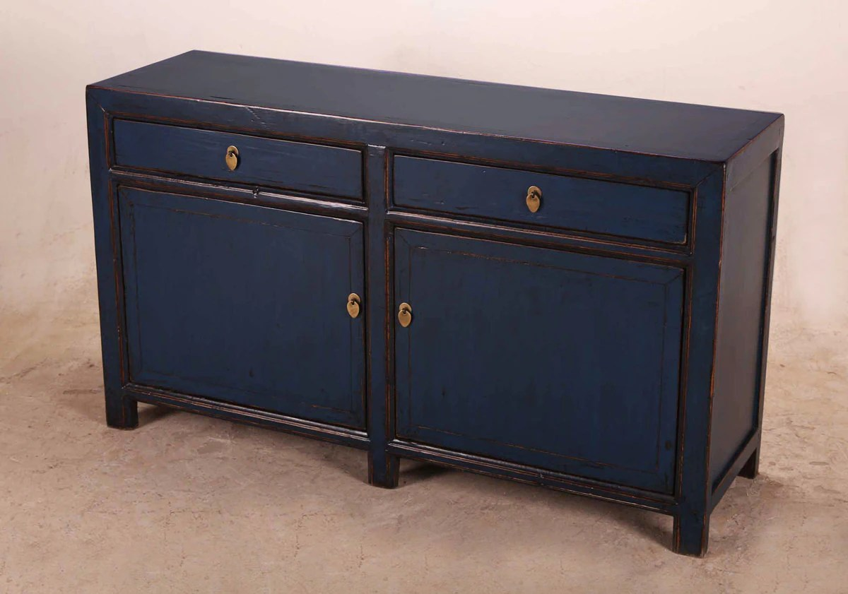 Tv Sideboard Navy Blue Sideboard Cabinet Media Console From Terra Nova