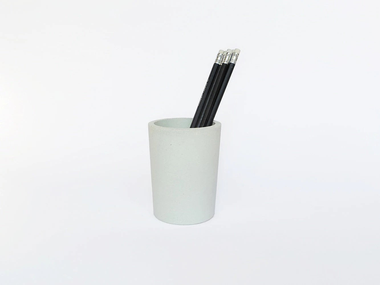 Pen Cup Holder White Concrete Pencil Holder Pencil Cup Pencil Holder