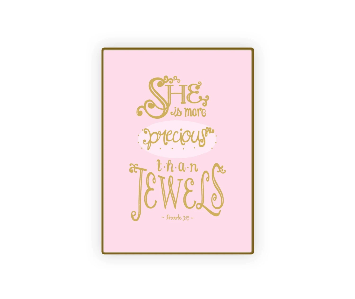 The Little Mermaid Quote Iphone Wallpaper Printable 5x7 She Is More Precious Than Jewels Bible Quote