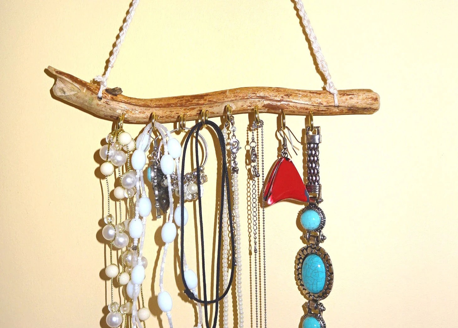 Rustic Driftwood Jewelry Organizer Jewelry Holder Natural