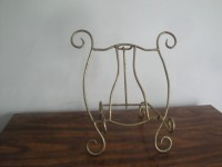 Unique Extra LARGE Brass Easel Picture / Plate Stand 12
