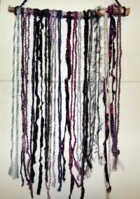 Items similar to Yarn Art Wall Hanging, Bohemian Home ...